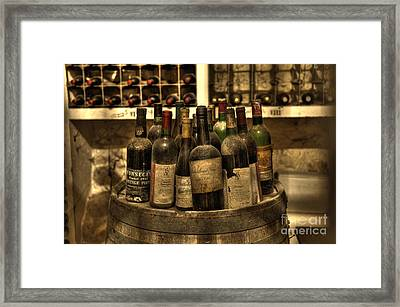Wine Bottles Framed Print by Nicki McManus