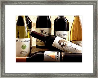 Wine Bottles Framed Print by Susan Stone
