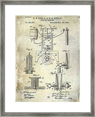 1890 Wine Bottling Machine Framed Print