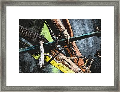 Wine Branches Framed Print by Tine Nordbred