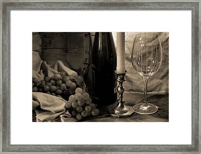 Wine By Candlelight Framed Print by Dan Sproul