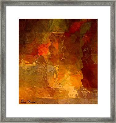 Wine By Candlelight Framed Print by Lisa Kaiser