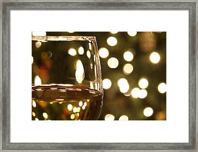 Wine By The Lights Framed Print by Andrew Soundarajan
