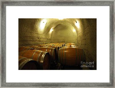 Wine Cellar 4 Framed Print by Micah May