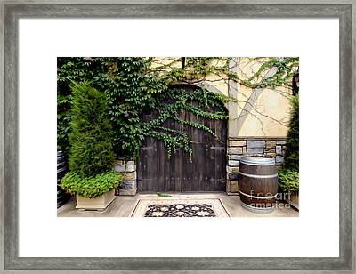 Wine Cellar Doors Framed Print