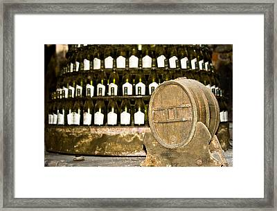 Wine Cellar In Sancerre Framed Print by Oleg Koryagin