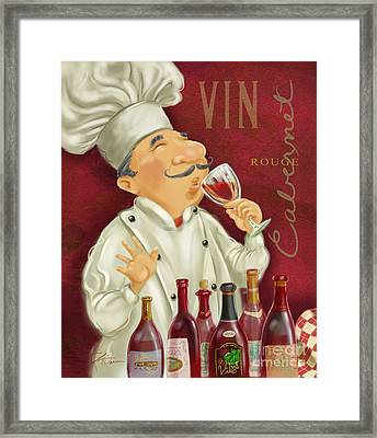 Wine Chef I Framed Print by Shari Warren
