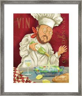 Wine Chef IIi Framed Print by Shari Warren