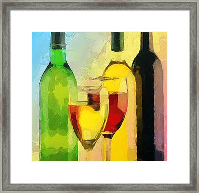 Wine Colors Framed Print by Yury Malkov