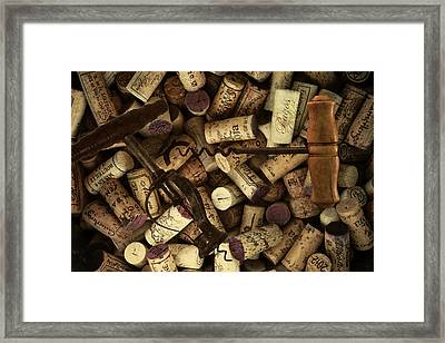 Fine Wine Corks And Screws Framed Print by Daniel Hagerman