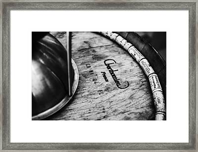 Wine Corks And Spittoon Bw Framed Print