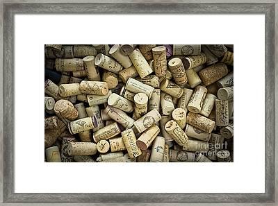 Wine Corks Framed Print by Edward Fielding