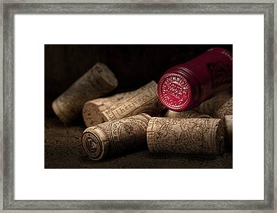Wine Corks Still Life Iv Framed Print by Tom Mc Nemar