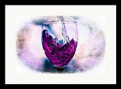 Pouring Wine Mixed Media Framed Prints