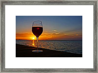 Wine Dock Framed Print by SecretsOf CocoaBeach