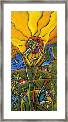 Wine Festival Framed Print by Leon Zernitsky