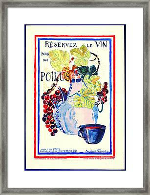 Wine For Soldiers 1916 Framed Print by Padre Art
