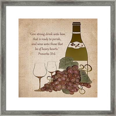 Wine For The Heart Framed Print