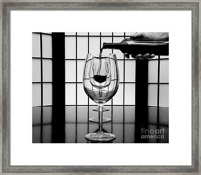 Wine For Three 2 Framed Print