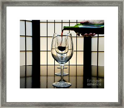 Wine For Three Framed Print