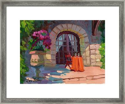Wine For Two Framed Print by Diane McClary