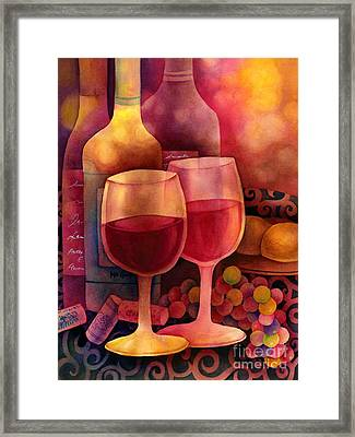 Wine For Two Framed Print by Hailey E Herrera
