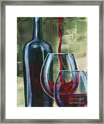 Wine For Two Framed Print by Lisa Owen-Lynch