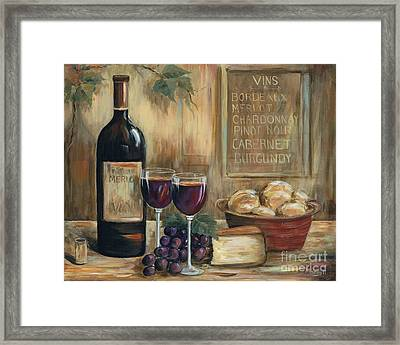 Wine For Two Framed Print by Marilyn Dunlap