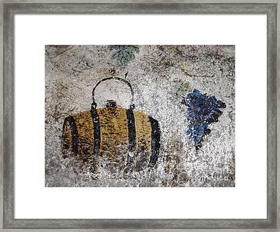 Wine Fresco Framed Print by Bernard Jaubert