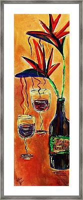 Wine From Birds Of Paradise  Framed Print