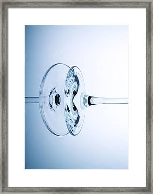 Wine Glass 11 Framed Print by Rebecca Cozart