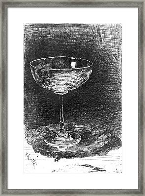 Wine Glass 1860 Framed Print by Padre Art