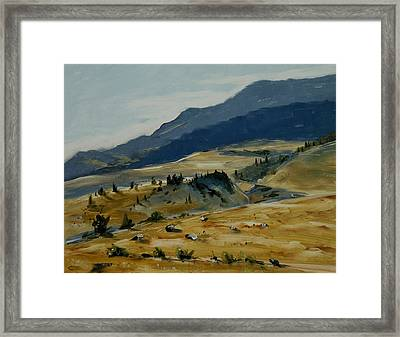 Wine Glass Valley Montana Framed Print