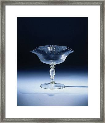 Wine Glass With A Pleated In Double Accolade Chalice Framed Print by Quint Lox