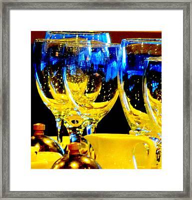 Wine Glasses 2 Framed Print by Randall Weidner