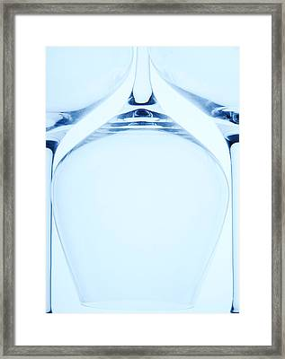 Wine Glasses 2 Framed Print by Rebecca Cozart