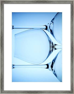 Wine Glasses 4 Framed Print by Rebecca Cozart