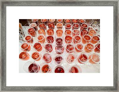 Wine Glasses, Dinner Cruise, Reykjavik Framed Print by Panoramic Images
