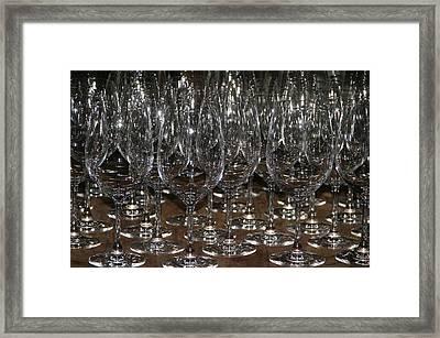 Wine Glasses Framed Print by Kathy Peltomaa Lewis
