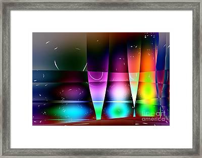 Wine Glasses Framed Print by Robert Burns
