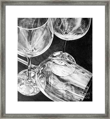 Wine Goblets Framed Print by Mark Hufford