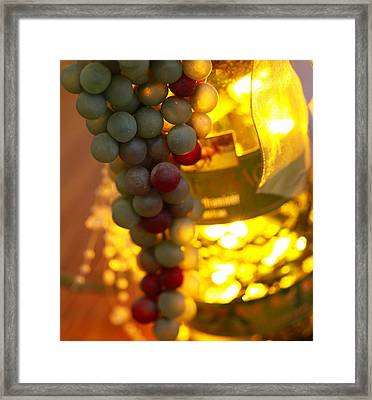 Wine Grapes Bokeh Framed Print by Dan Sproul