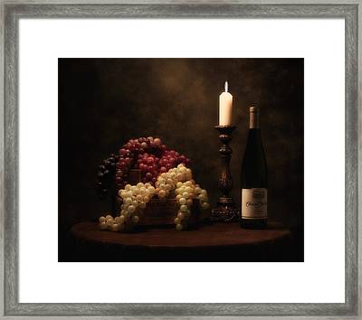 Wine Harvest Still Life Framed Print