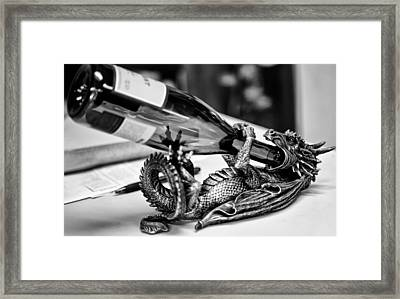 Wine Holder Framed Print