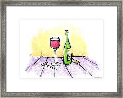 Wine Illustration Framed Print by Shawn Smith