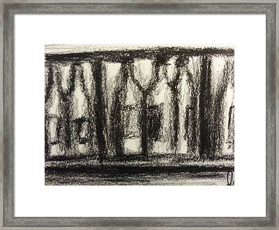 Wine In Cabinet Framed Print by Steve Jorde