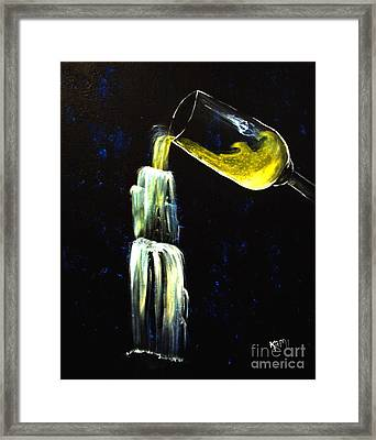 Wine Into Waterfall Framed Print by Kami Catherman