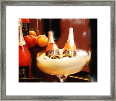 Wine Is Waiting Framed Print by Phyllis Taylor