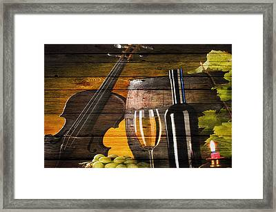 Wine Framed Print by Joe Hamilton