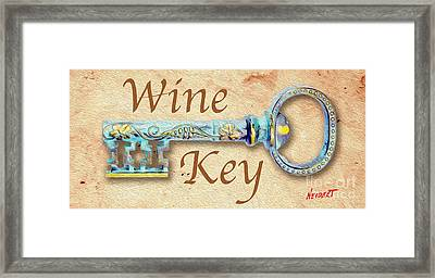 Wine Key Painting  Framed Print by Jon Neidert